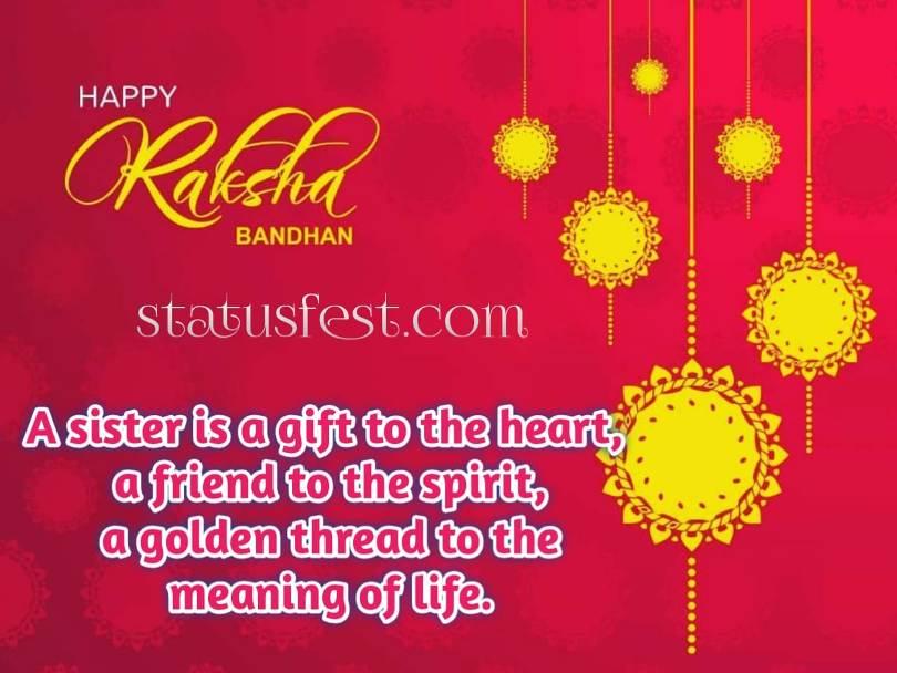 Rakshabandhan Quotes for sister in Hindi Image